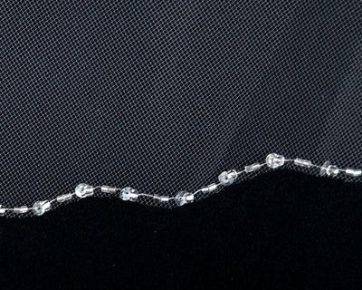Circular Two Layer Bridal Veil With Sequin Edge