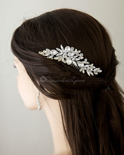 Bridal Comb of Pear and Marquise Stones