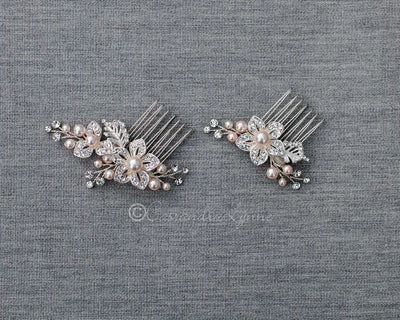 Blush Pearl Bridal Comb Set