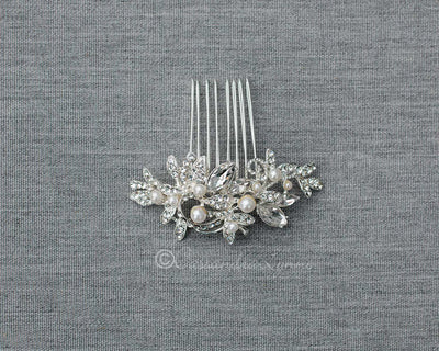 Small Wedding Comb with Pearls
