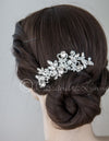 Bridal Hair Comb of Pear and Marquise Jewels