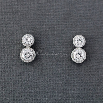 Brilliant Cut CZ Drop Earrings