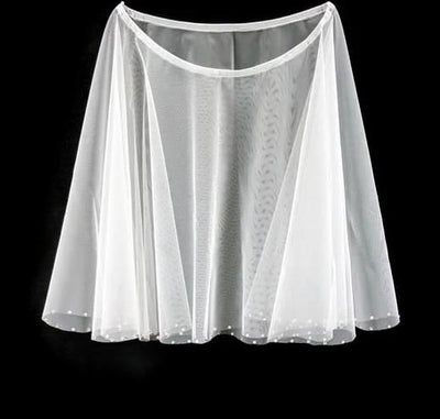 Short Wedding Capelet with Rhinestones