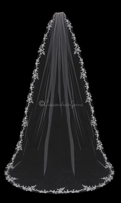 Cathedral Veil with Seed Bead Lace