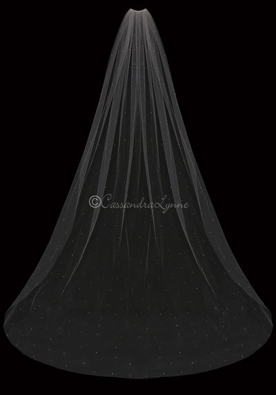 Pearl Scatter Cathedral Wedding Veil