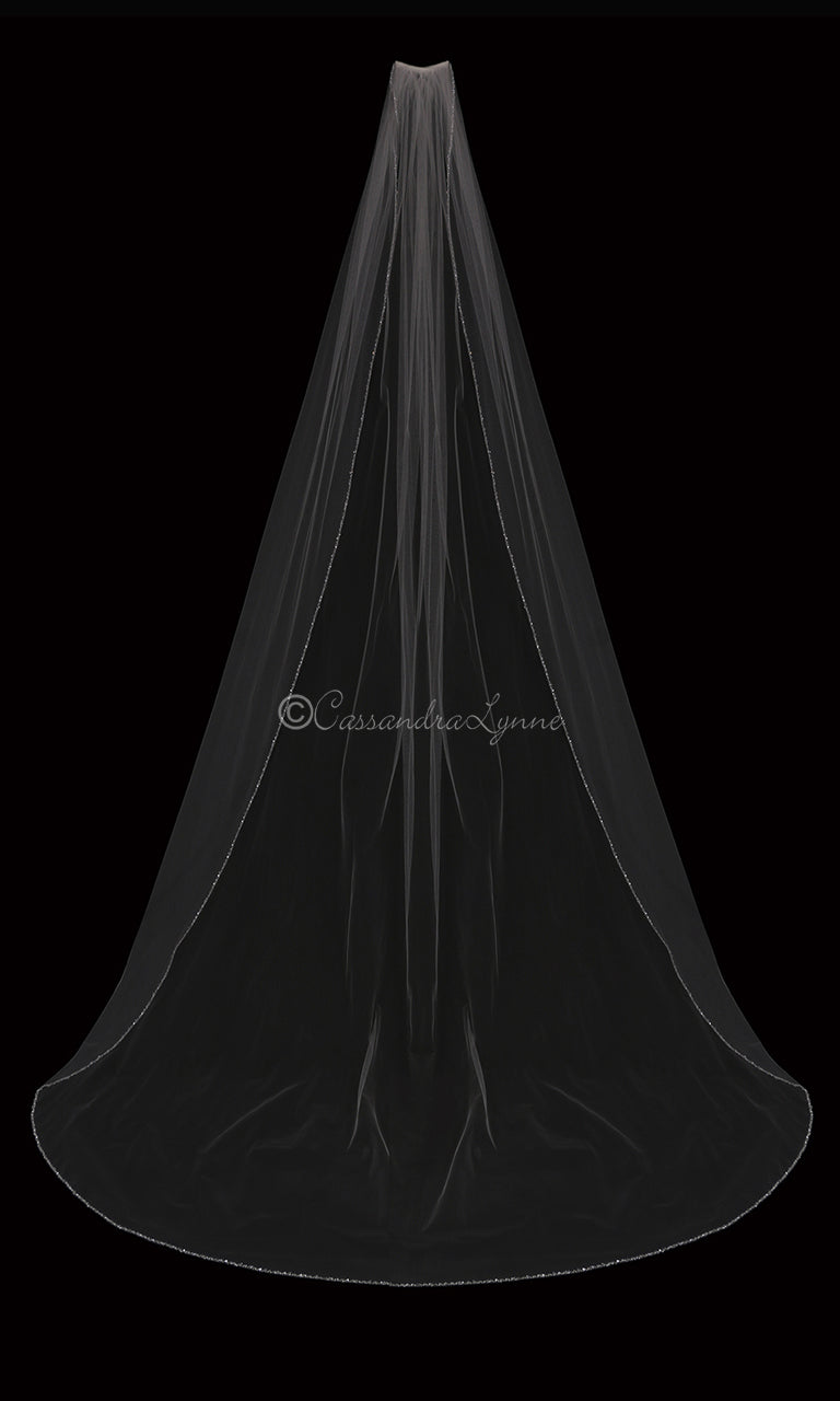Cathedral Veil with Crystal Beads