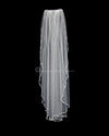 "Crystal Beaded 34"" Wedding Veil with Sequins"