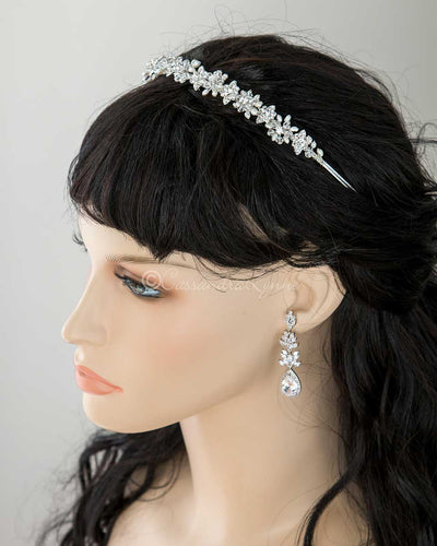 Wedding Headpiece Headband with Freshwater Pearl Flowers