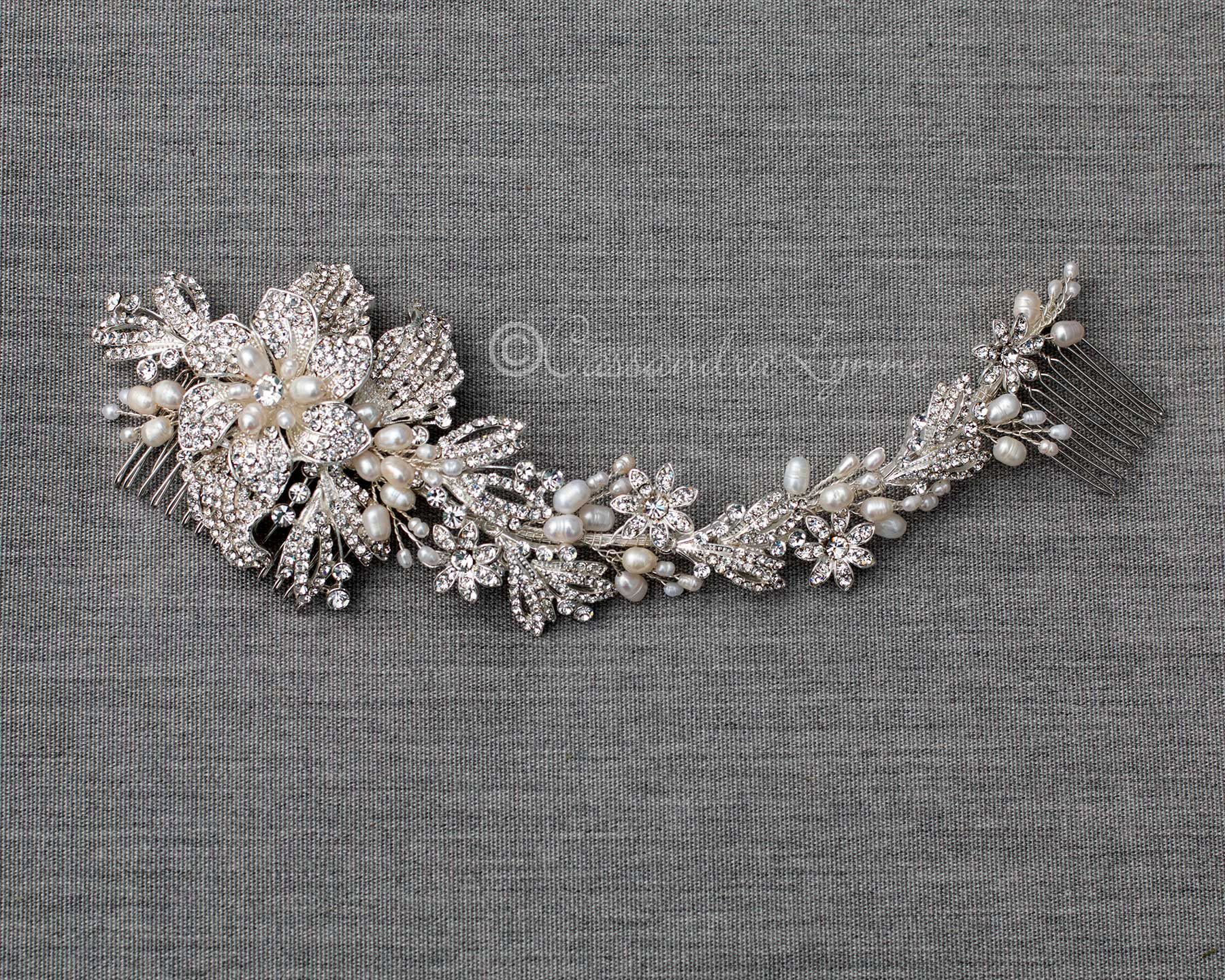 Crystal and Pearl Headpiece for the Bride