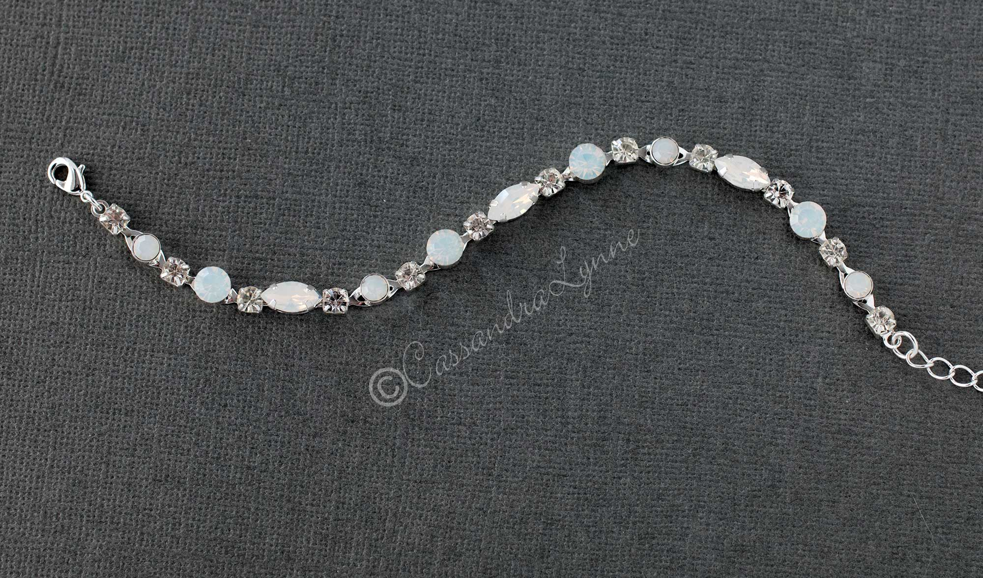 Crystal Bracelet with White Opal Accents