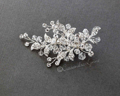 Swarovski crystal beaded hair clip