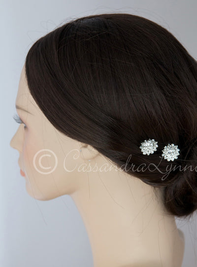 Crystal Floral Wedding Hair Pins