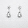 Cubic Zirconia Drop Earrings Teardrop Shaped