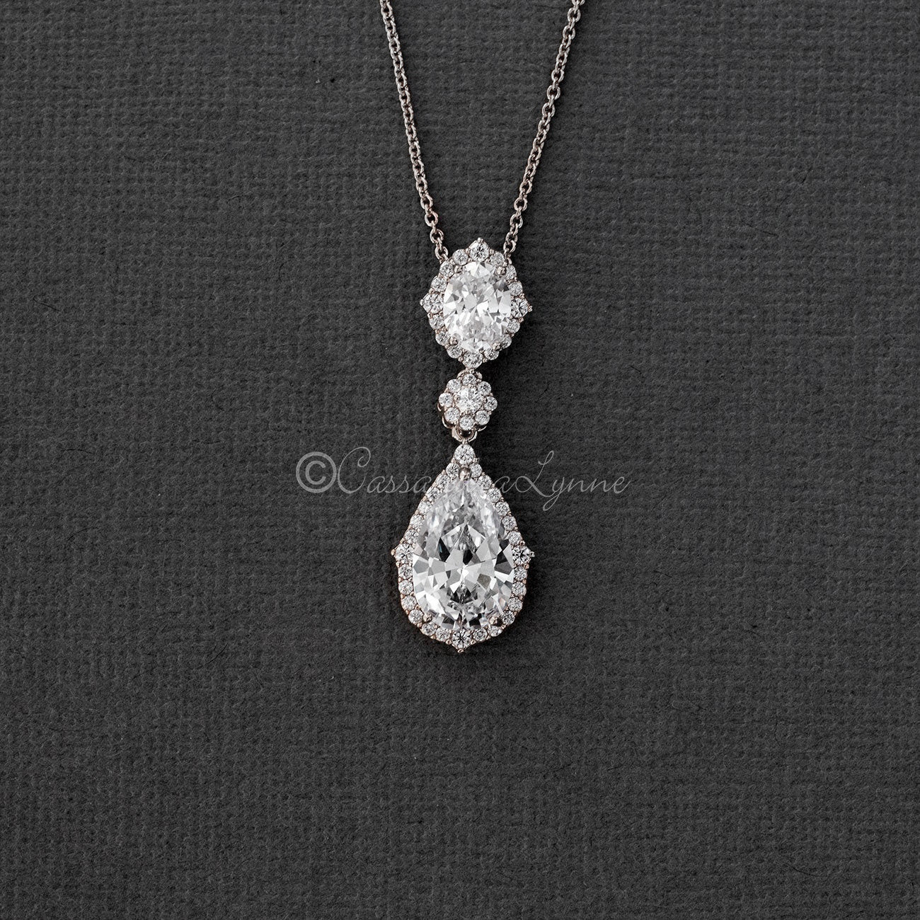 Vintage Bridal Pendant in a Pave Setting