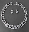 Vintage Cubic Zirconia Collar Wedding Necklace Set