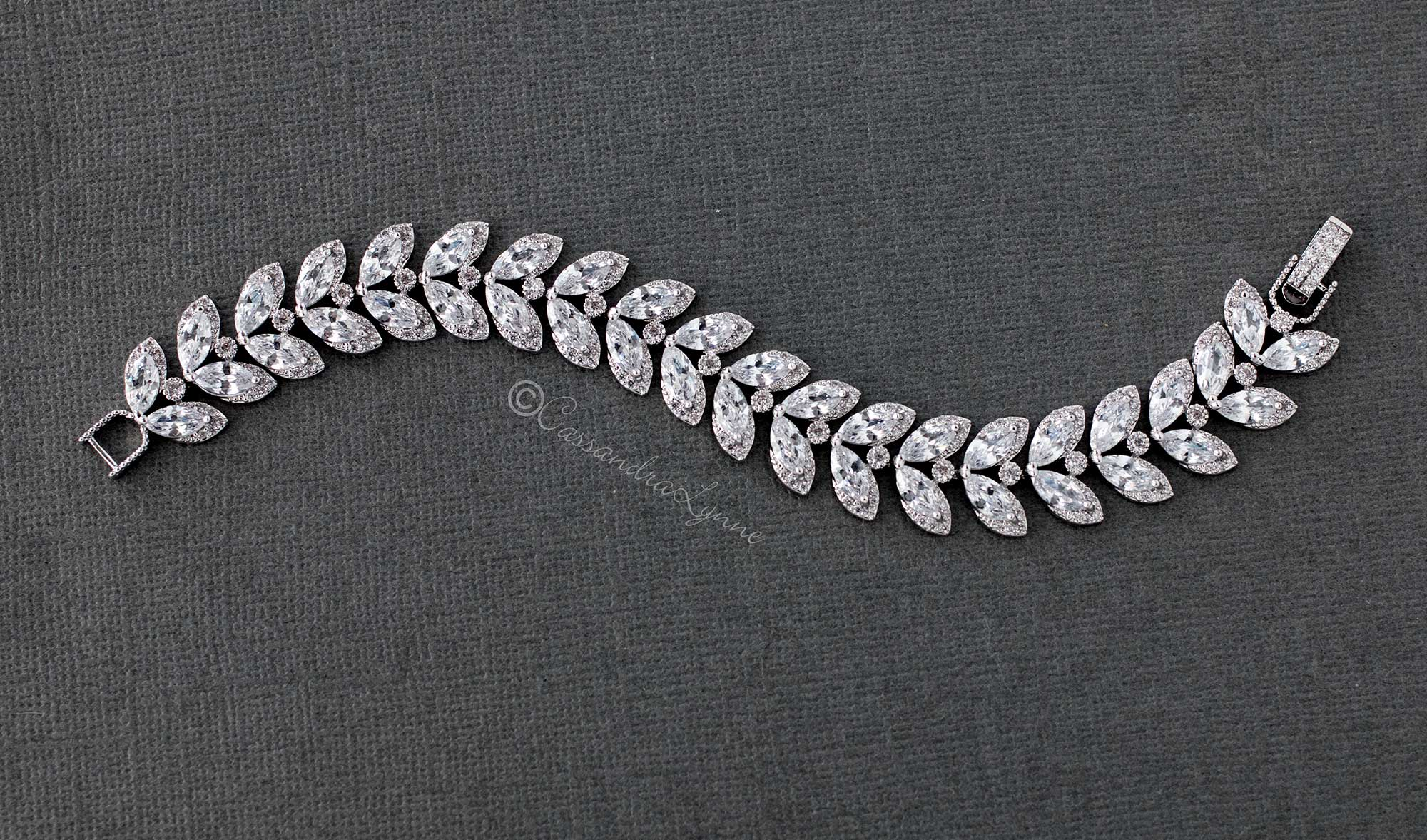 Marquise Leaf Wedding Bracelet