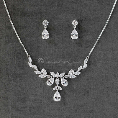 CZ Pendant Necklace Set