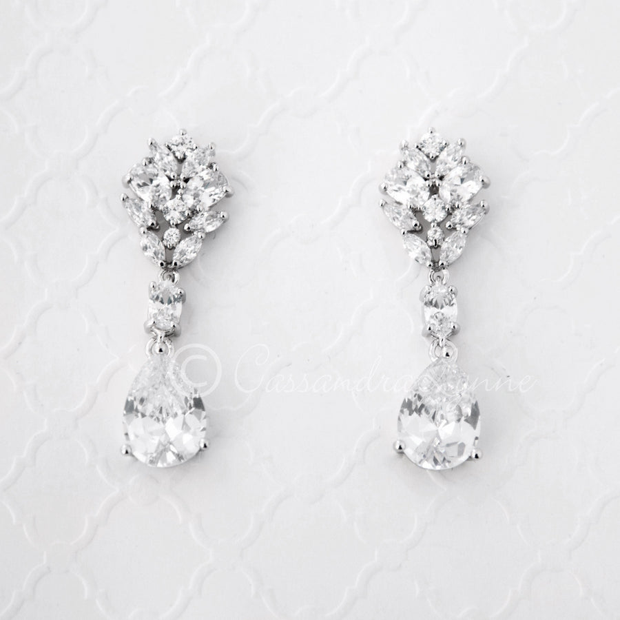 diamond the fullxfull gift products clip bride diamante of long earrings bridesmaids bridal jewelry cz on il mother