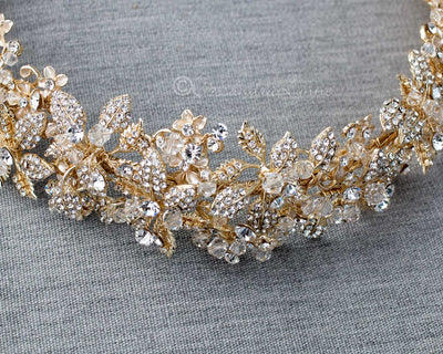 Light Gold Lux Wedding Headband
