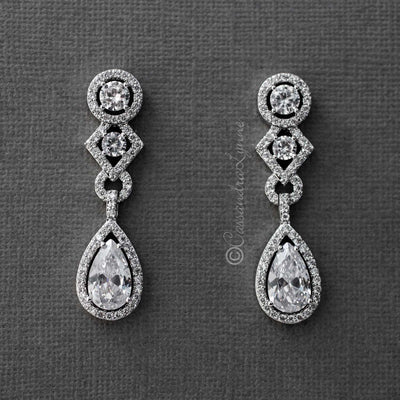 Designer Inspired CZ Wedding Day Earrings