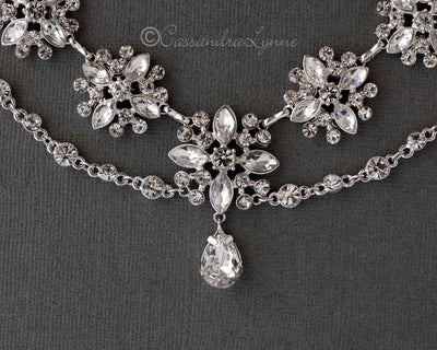 Wedding Dress Jewelry Elegant Marquise Flowers