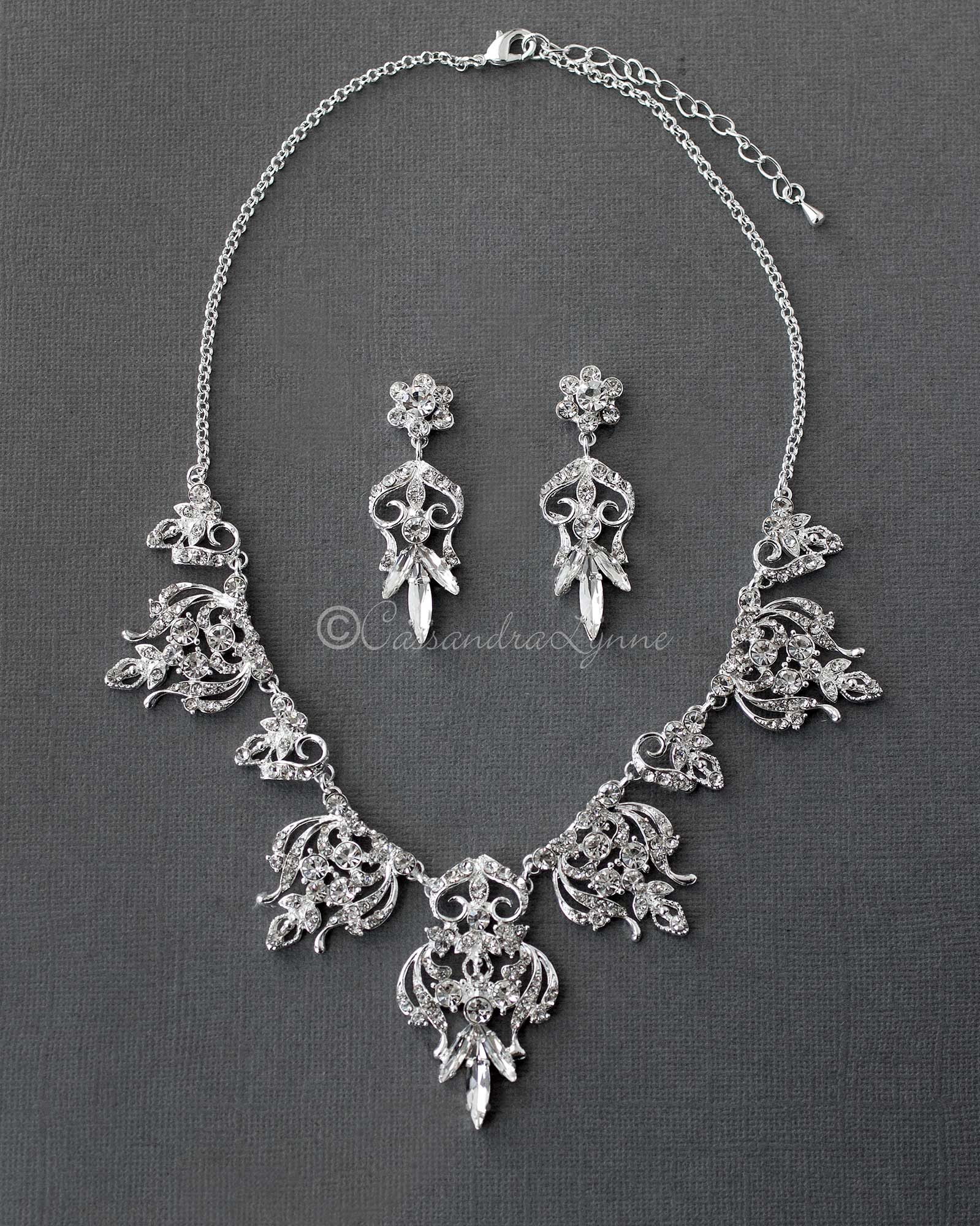Filigree Bridal Necklace Set