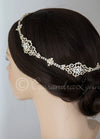 Wedding Halo Circlet of Filigree Crystal Links