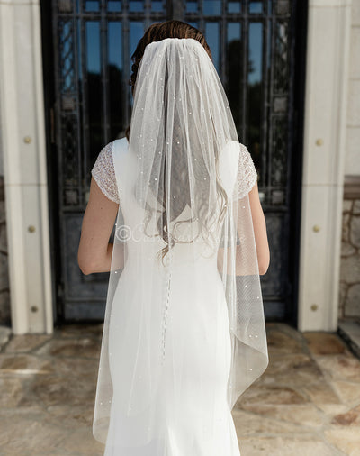 Pearl Scatter Wedding Veil