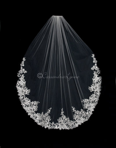 Flower Lace 60 Inch Weeding Veil