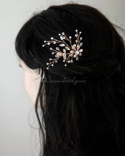 Crystal Flower Wedding Hair Pin