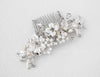 Bridal Hair Piece of Porcelain Flowers and Pearls