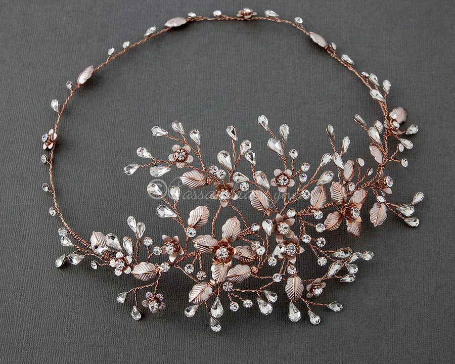 Gold And Rose Gold Bridal Hair Accessories Cassandra Lynne