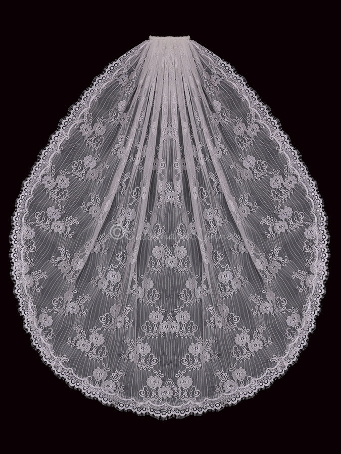 Full Lace Fingertip Wedding Veil
