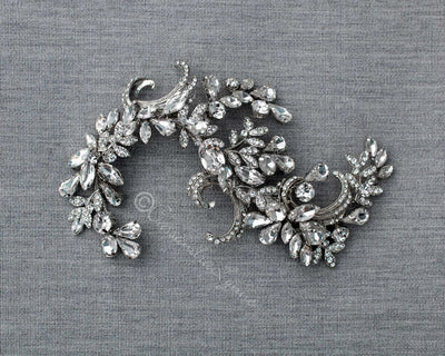 Antique Silver Wedding Headpiece Clip