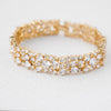 Round Cluster CZ Wedding Bracelet Gold