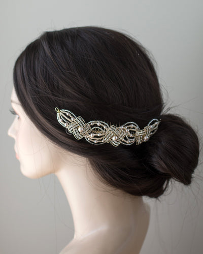 Light Gold Geometric Wedding Hair Comb