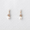 Pearl Bridal Earrings with CZ Jewels