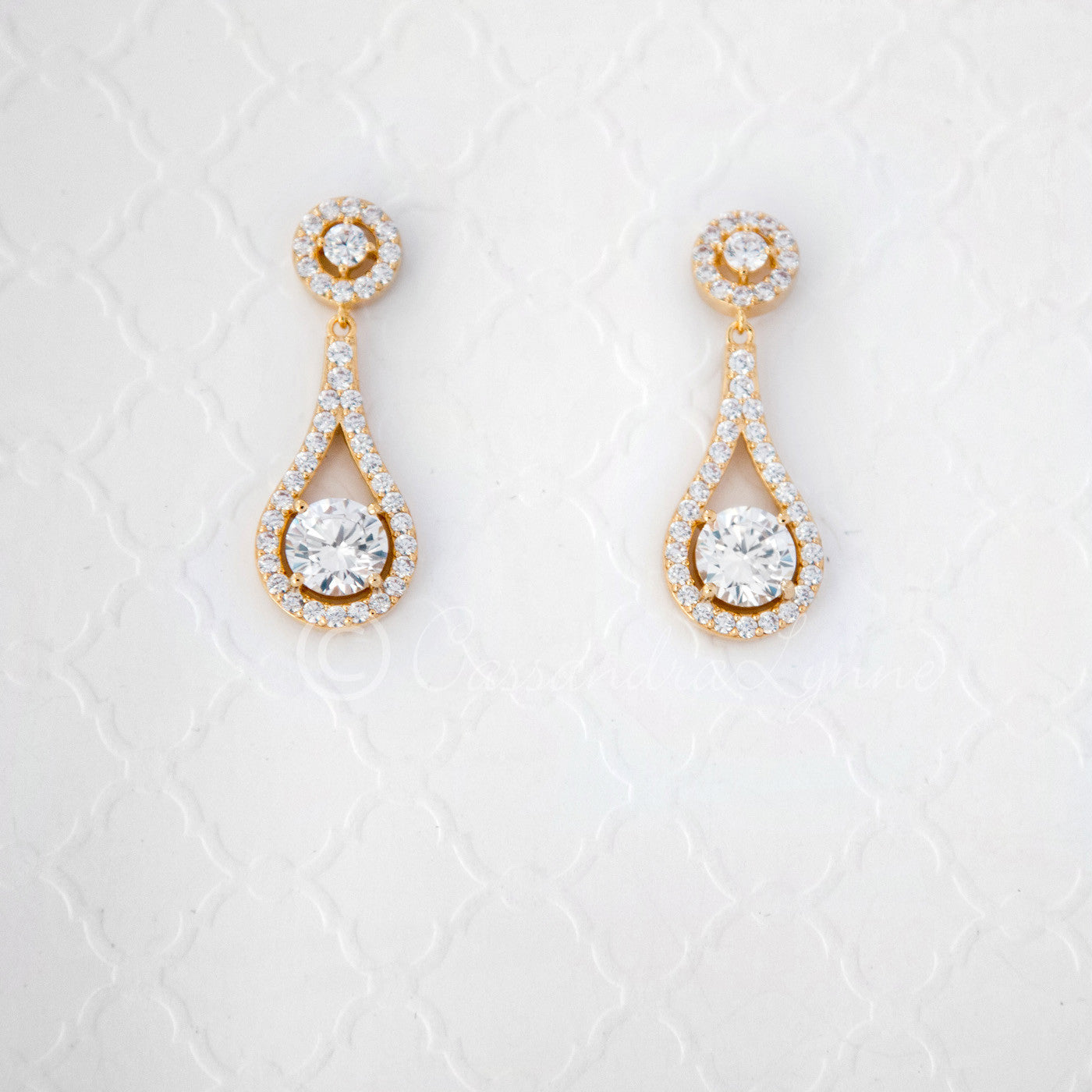 849af688a Cubic Zirconia Drop Earrings Teardrop Shaped - Cassandra Lynne