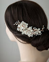 Golden Flower Hair Clip for the Bride Rose Gold