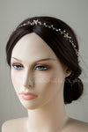 Gold Beach Bride Hair Vine with Pearls and Starfish