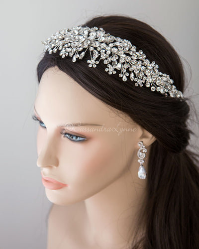 Multi-shape Jewels Wedding Headpiece