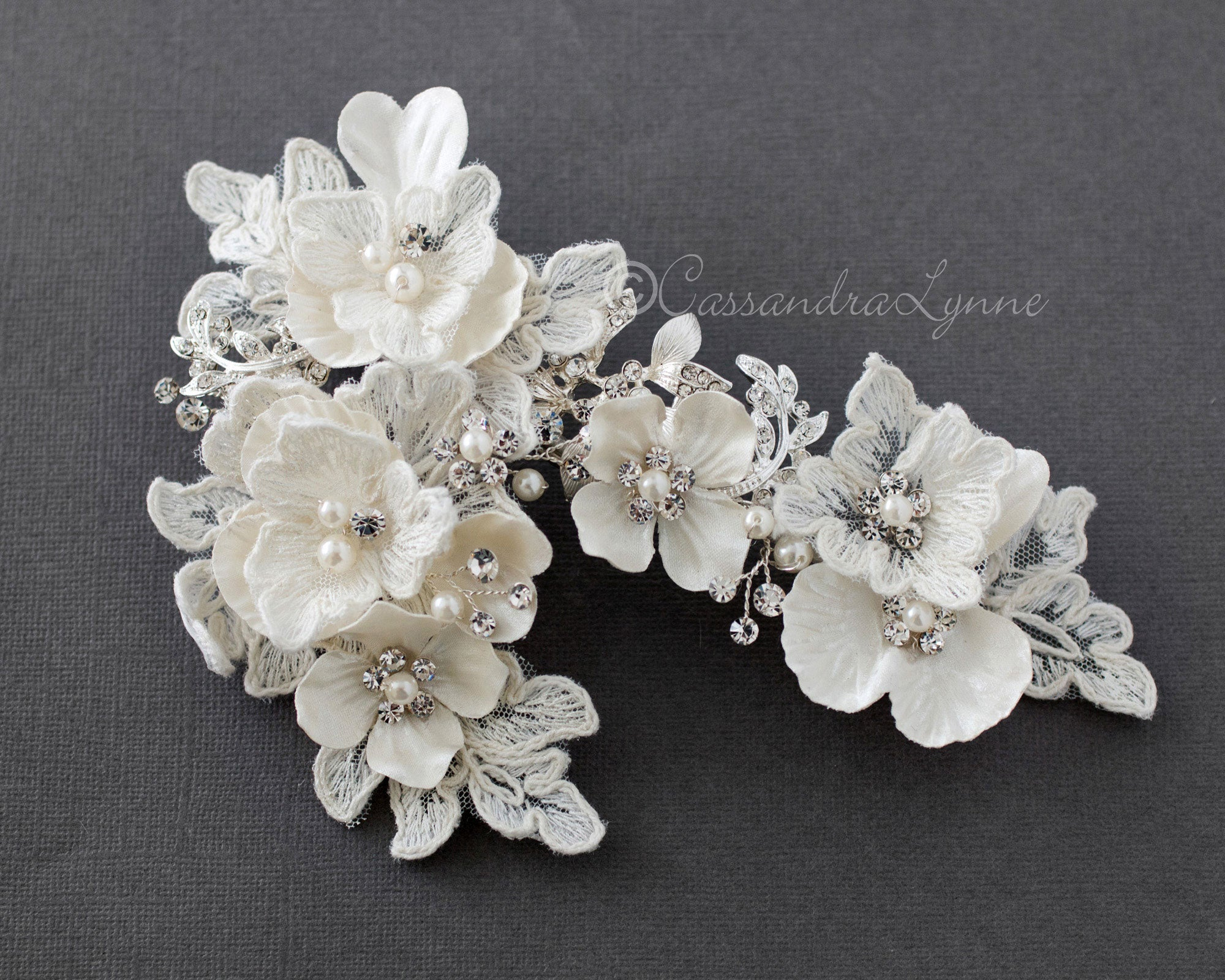 Lace Flower Bridal Hair Clip