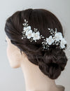 Bridal Clip Set of Sequin Flowers and Pearls