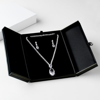 Deluxe Jewelry Necklace Keepsake Box
