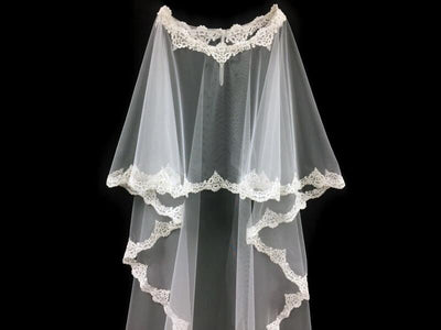 Floor Length Bridal Cape with Lace