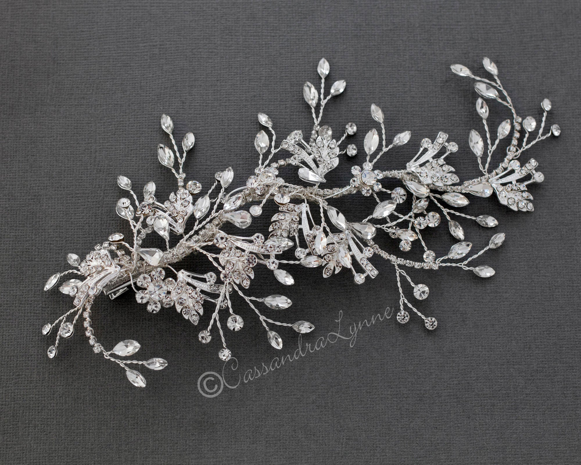Bridal Headpiece of Pear and Marquise Jewels