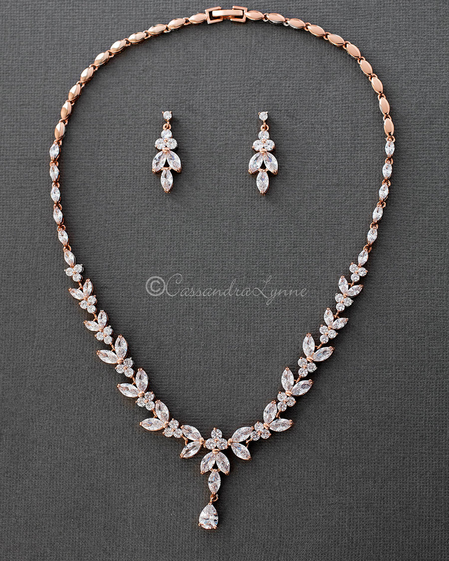 wedding necklace cz jewelry shop set pearl gorgeous bridal gorgeousczpearlbridalnecklaceset