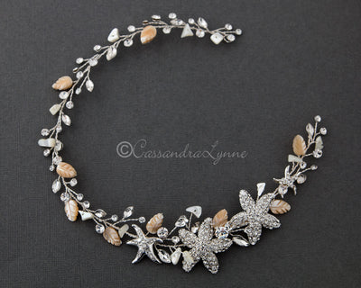 Beach Bride Hair Vine of Starfish and Shell