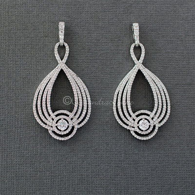 Micro Pave CZ Earrings for the Bride
