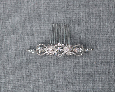 Modern Crystal Comb for the Bride